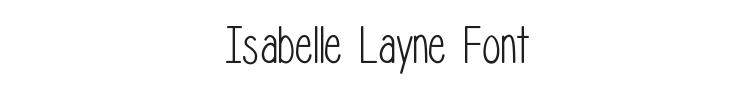 Isabelle Layne Font