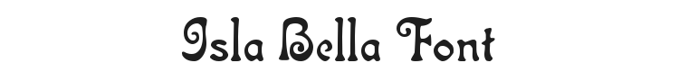 Isla Bella Font Preview
