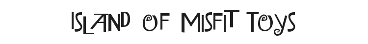 Island of Misfit Toys Font Preview