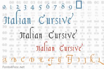 Italian Cursive 16th Century Font