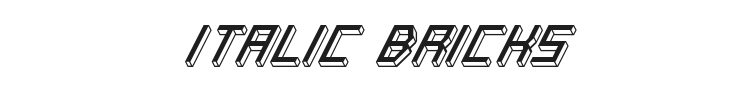 Italic Bricks Font Preview