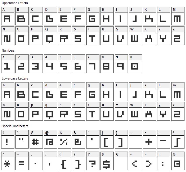Ivorg Font Character Map
