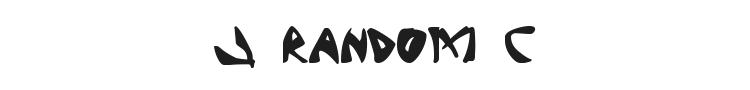 J Random C Font Preview