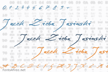 Jacek Zieba Jasinski Font