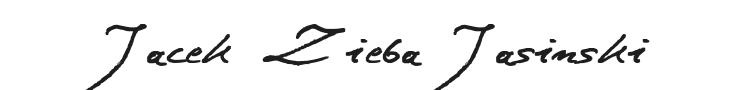 Jacek Zieba Jasinski Font Preview