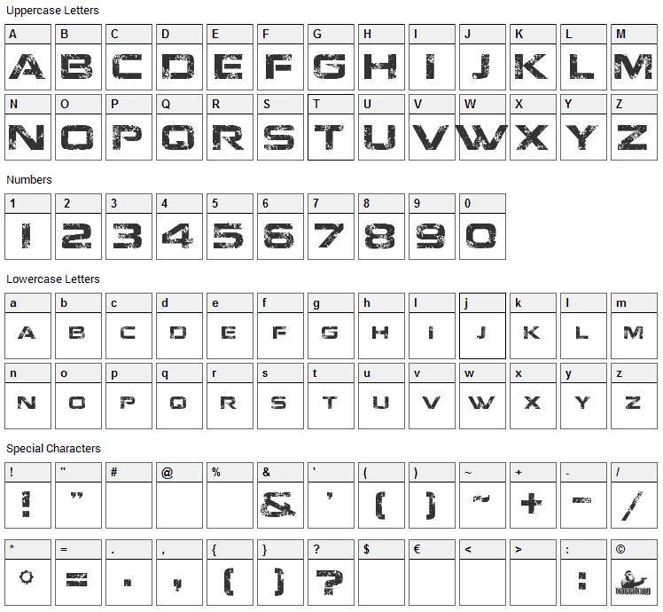 Jacinto Sans Font Character Map