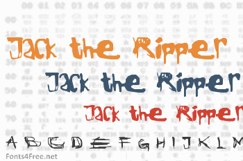 Jack the Ripper Font