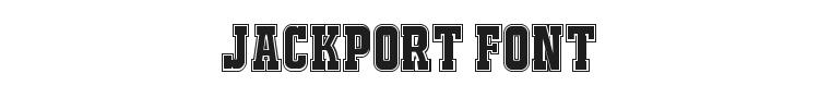 Jackport NCV Font Preview