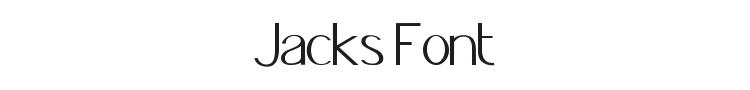 Jacks Font Preview