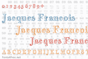 Jacques Francois Shadow Font
