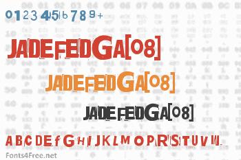 Jadefedga[08] Font