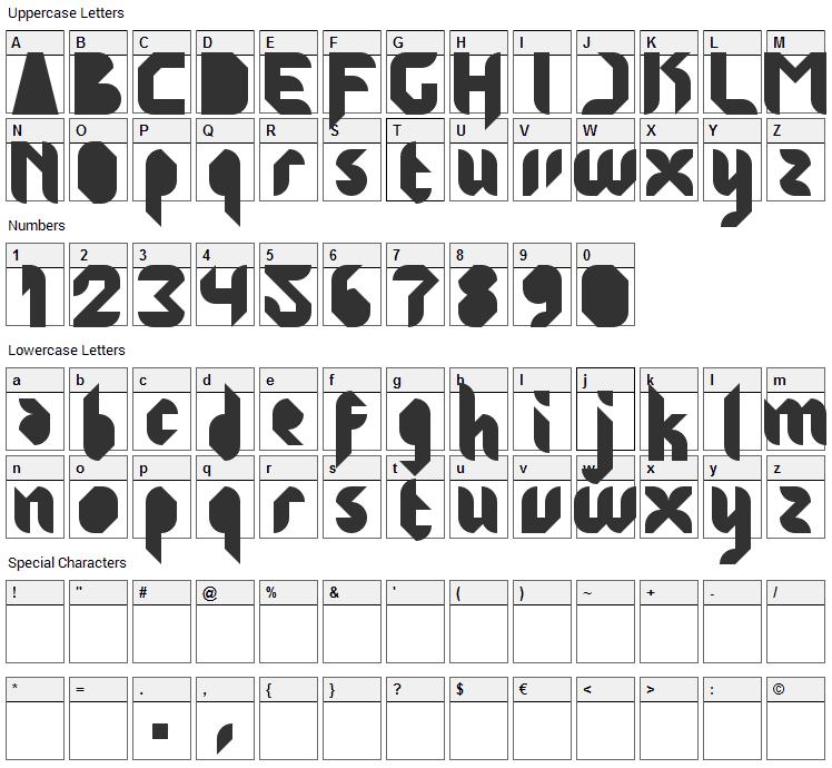 Jakarta Highends Font Character Map