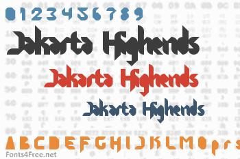 Jakarta Highends Font