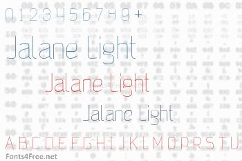 Jalane Light Font