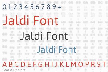Jaldi Font
