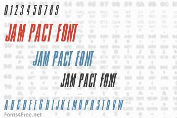 Jam Pact Font