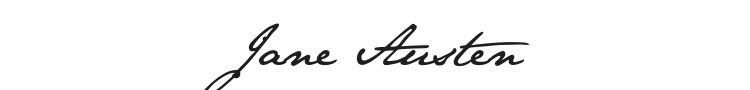 Jane Austen Font Preview
