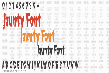 Jaunty Font