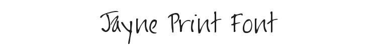 Jayne Print Font Preview