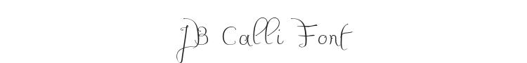 JB Calli Font