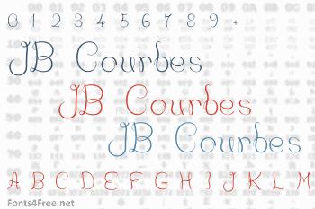 JB Courbes Font