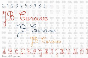 JB Cursive Font