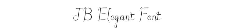 JB Elegant Font Preview