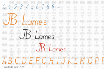 JB Lames Font