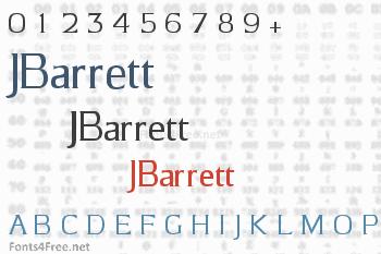 JBarrett Font