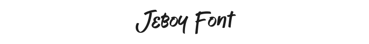 Jeboy Font Preview