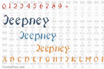 Jeepney Font
