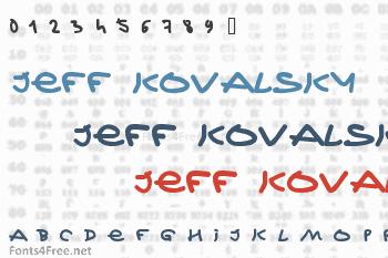 Jeff Kovalsky Font
