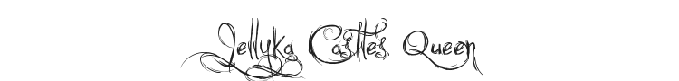 Jellyka Castles Queen Font Preview