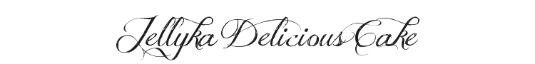 Jellyka Delicious Cake Font Preview
