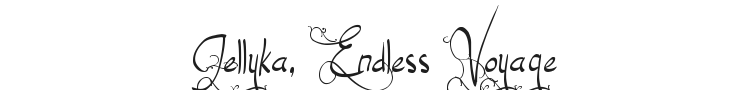 Jellyka, Endless Voyage Font Preview