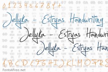 Jellyka - Estryas Handwriting Font