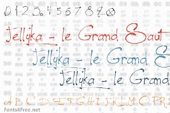 Jellyka - le Grand Saut Font