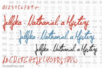 Jellyka - Nathaniel, a Mystery Font