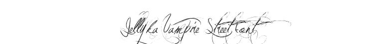 Jellyka Vampire Street Font Preview
