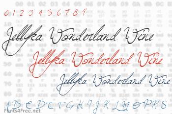 Jellyka Wonderland Wine Font