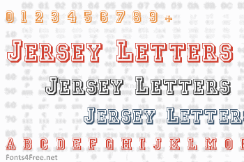 Jersey Letters Font