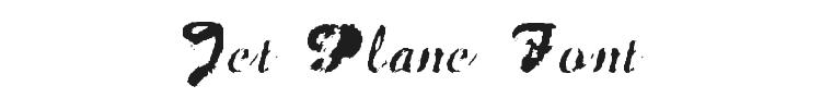 Jet Plane Font Preview