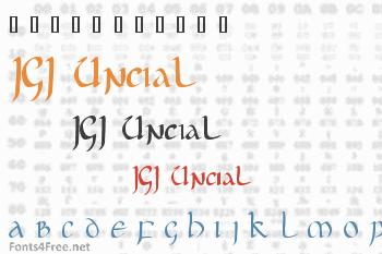 JGJ Uncial Font