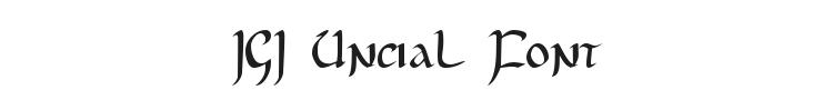 JGJ Uncial Font Preview