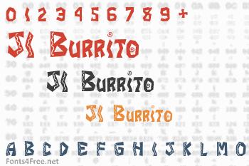 JI Burrito Font