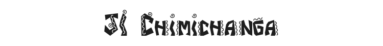 JI Chimichanga Font Preview