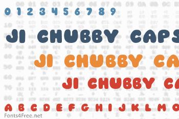 JI Chubby Caps Font