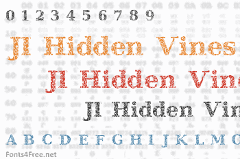 JI Hidden Vines Font