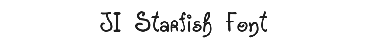 JI Starfish Font Preview