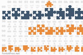 Jigsaw Pieces Font